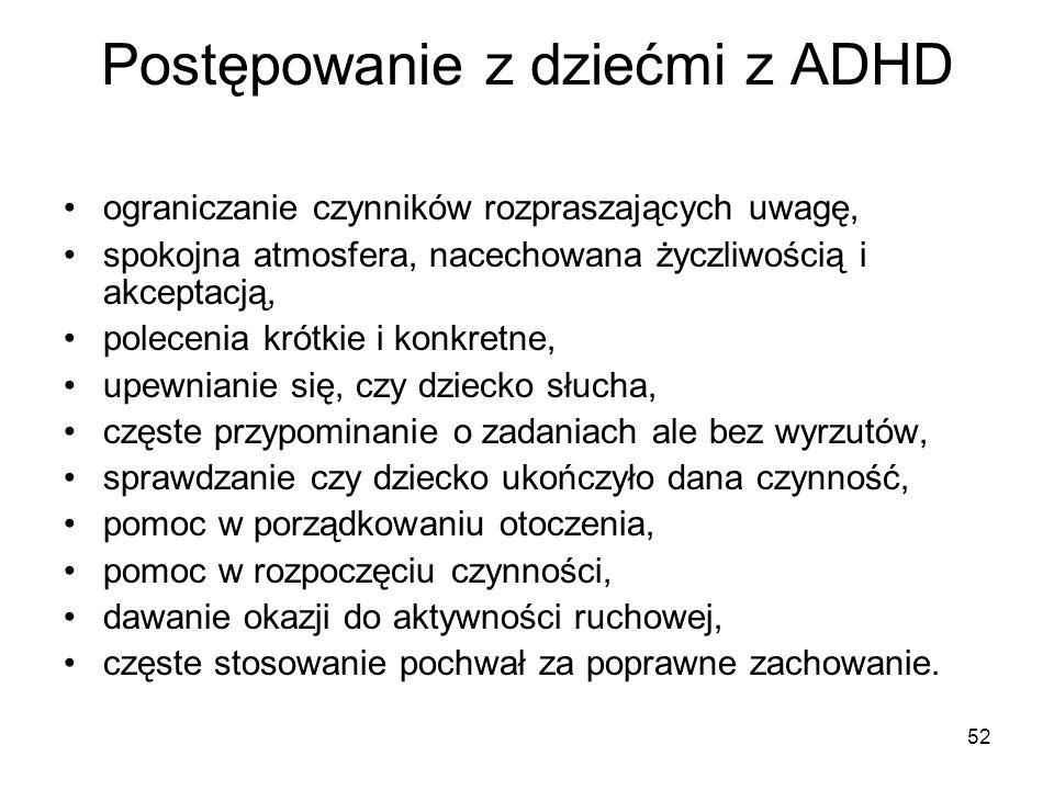 Postępowanie z dziećmi z ADHD