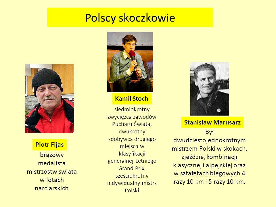 Polscy skoczkowie Kamil Stoch Stanisław Marusarz
