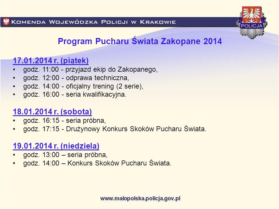 Program Pucharu Świata Zakopane 2014