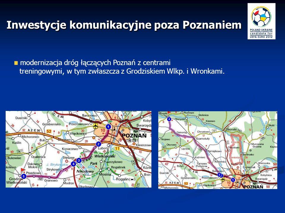 Inwestycje komunikacyjne poza Poznaniem