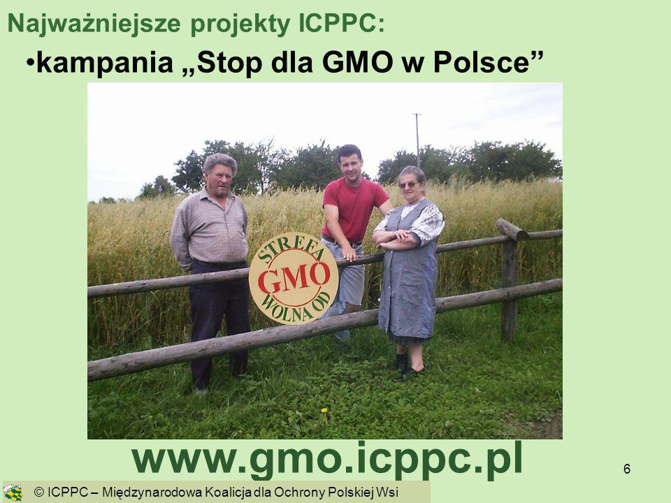 """www.gmo.icppc.pl kampania """"Stop dla GMO w Polsce"""