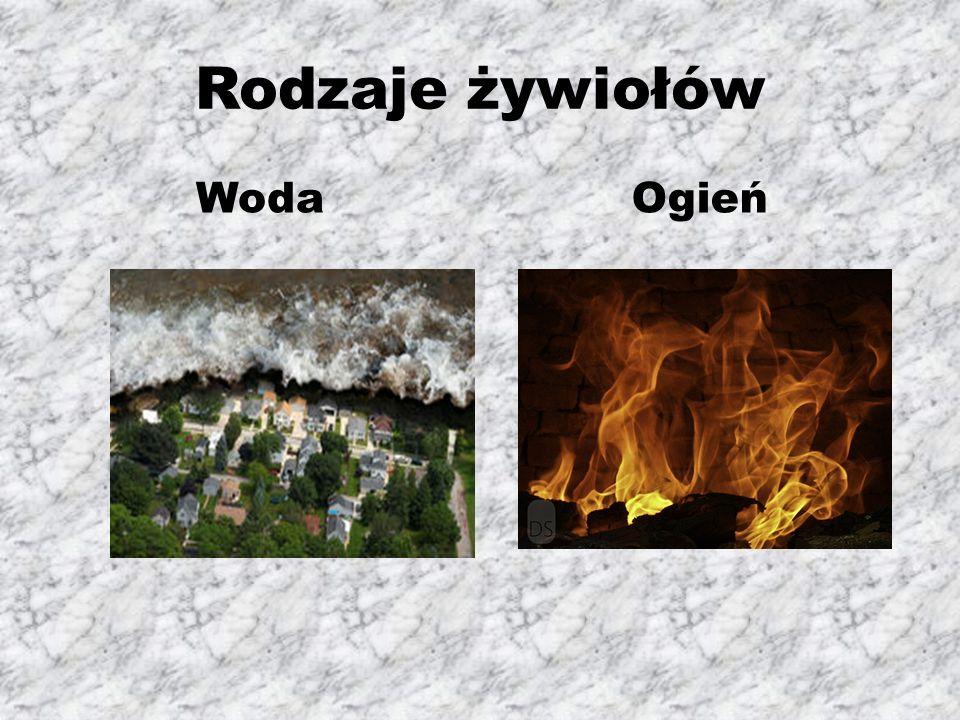 Rodzaje żywiołów Woda Ogień