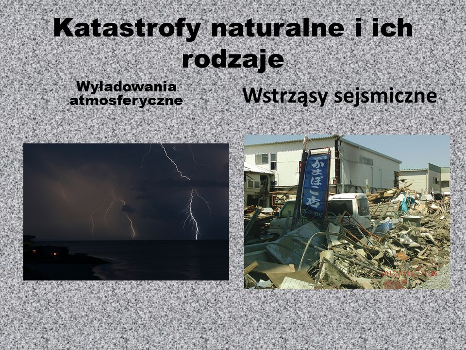 Katastrofy naturalne i ich rodzaje