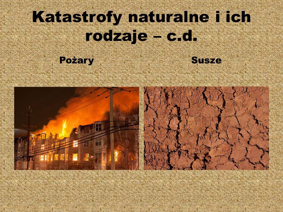 Katastrofy naturalne i ich rodzaje – c.d.