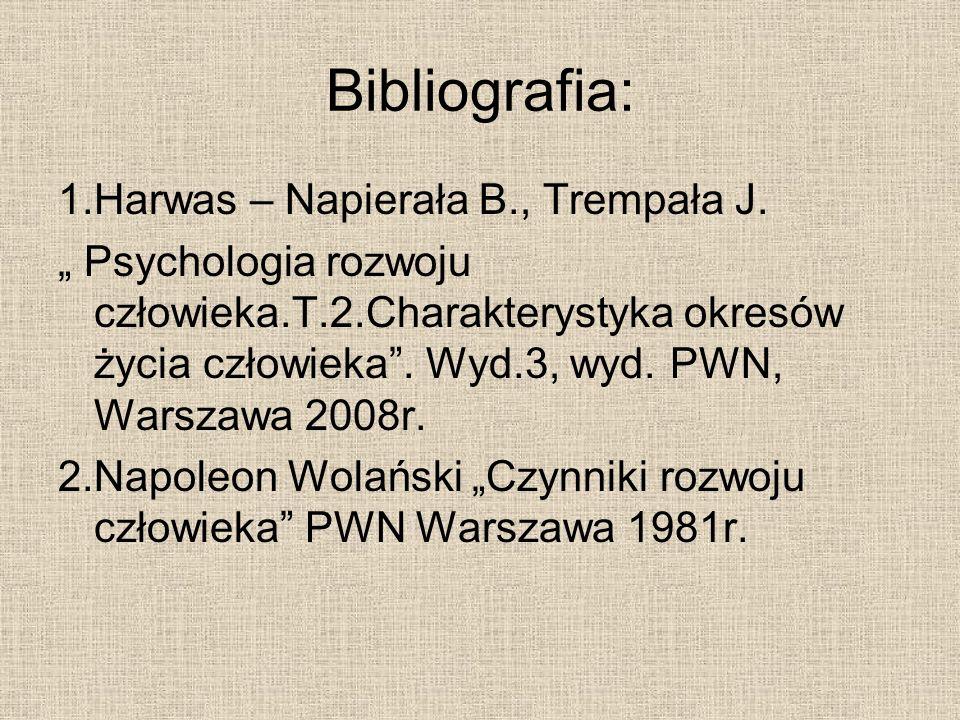 Bibliografia: 1.Harwas – Napierała B., Trempała J.