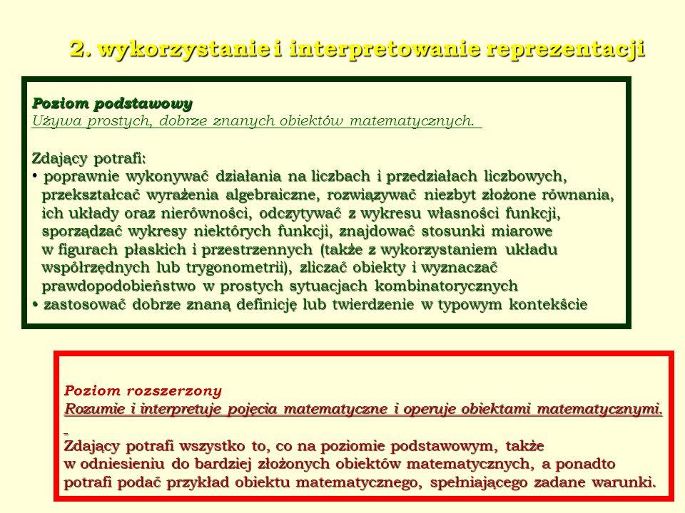 2. wykorzystanie i interpretowanie reprezentacji