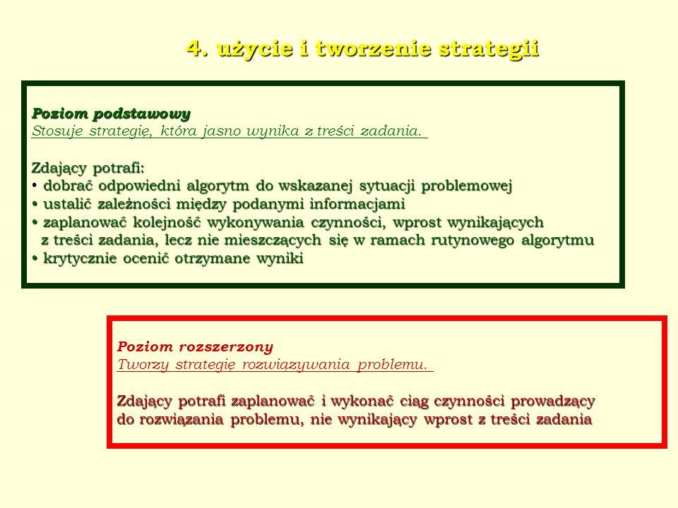 4. użycie i tworzenie strategii
