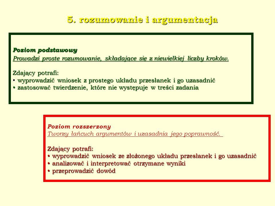 5. rozumowanie i argumentacja