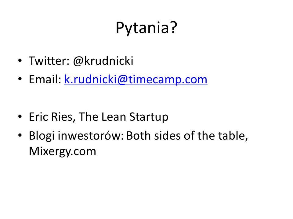 Pytania Twitter: @krudnicki Email: k.rudnicki@timecamp.com