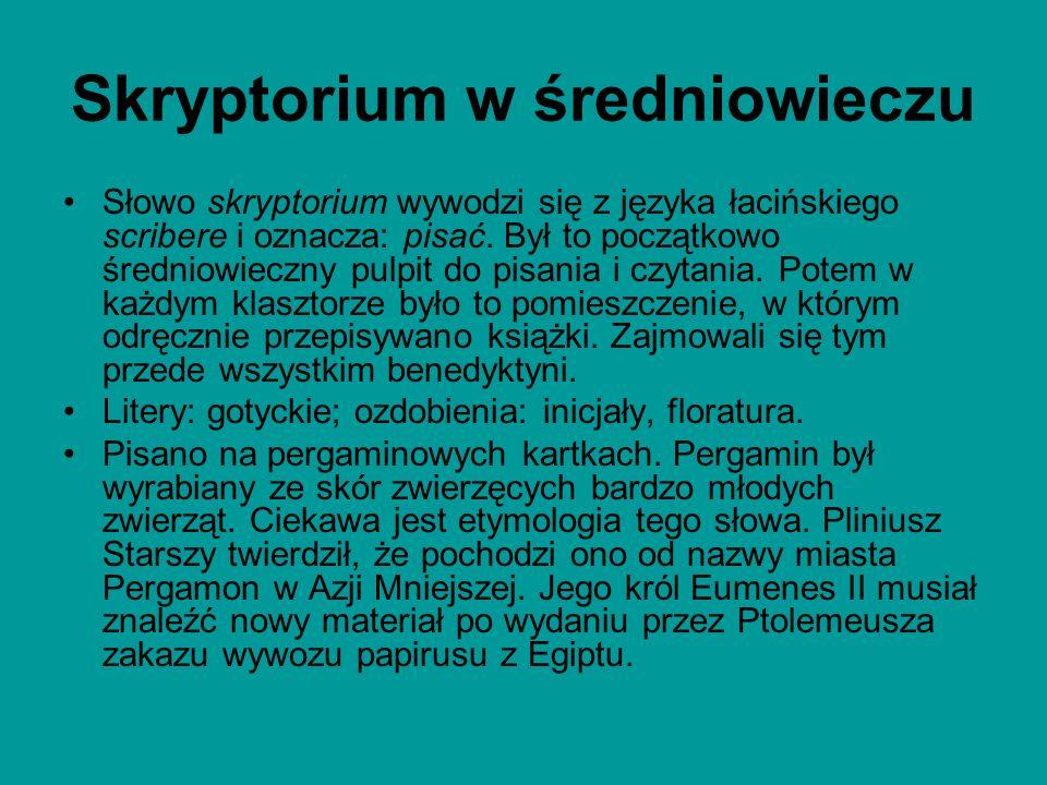 Skryptorium w średniowieczu
