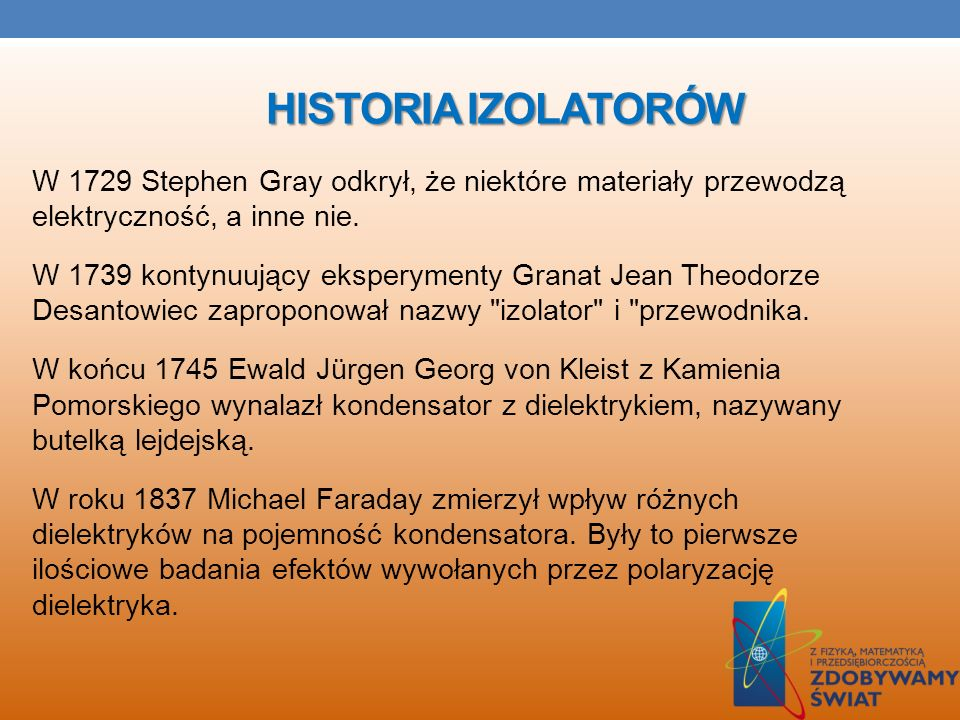HISTORIA IZOLATORÓW
