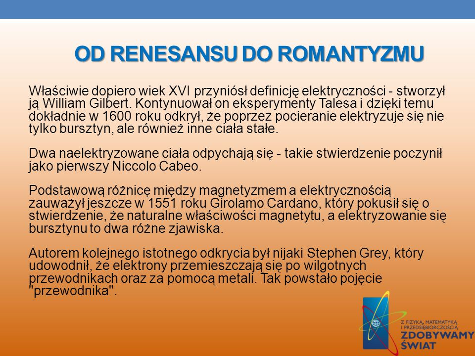 Od Renesansu do Romantyzmu