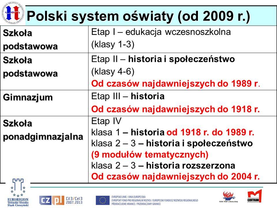 Polski system oświaty (od 2009 r.)