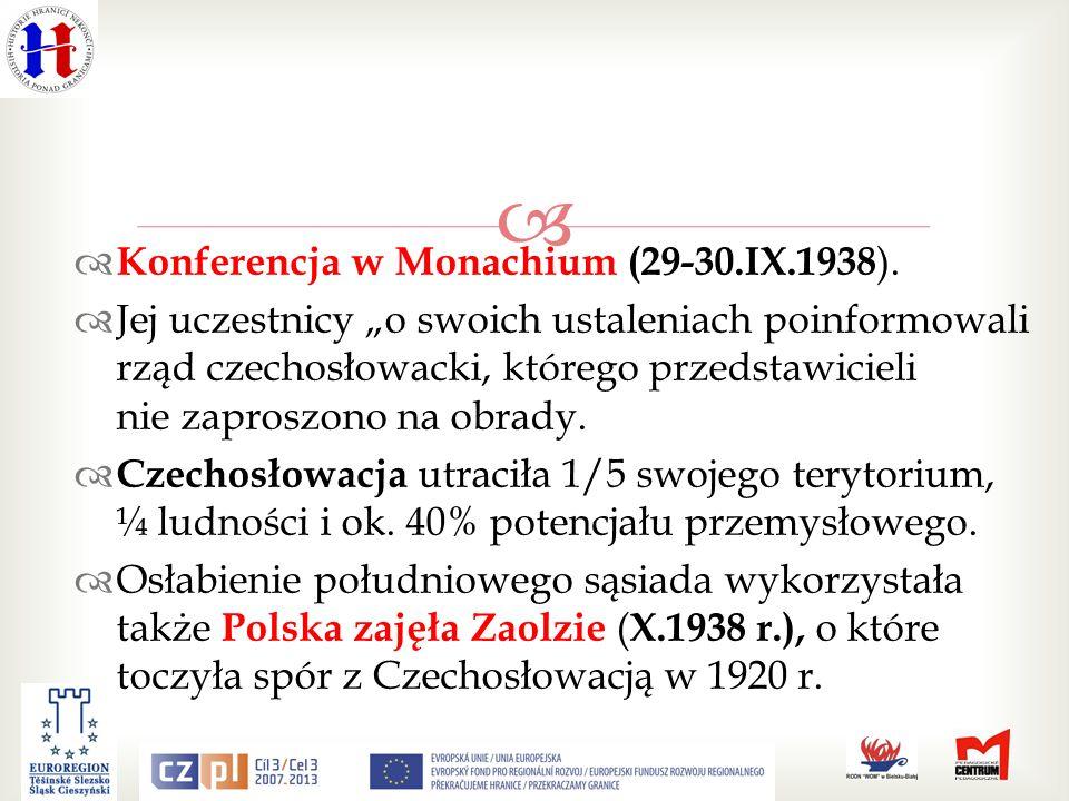 Konferencja w Monachium (29-30.IX.1938).