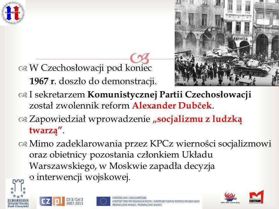 W Czechosłowacji pod koniec