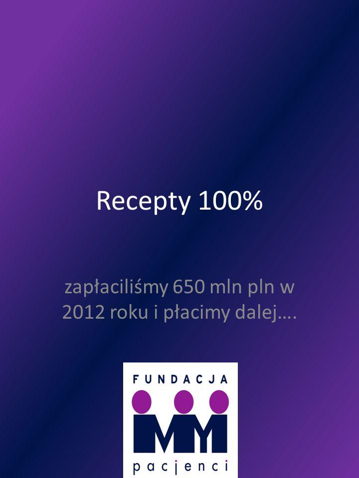 zapłaciliśmy 650 mln pln w 2012 roku i płacimy dalej….