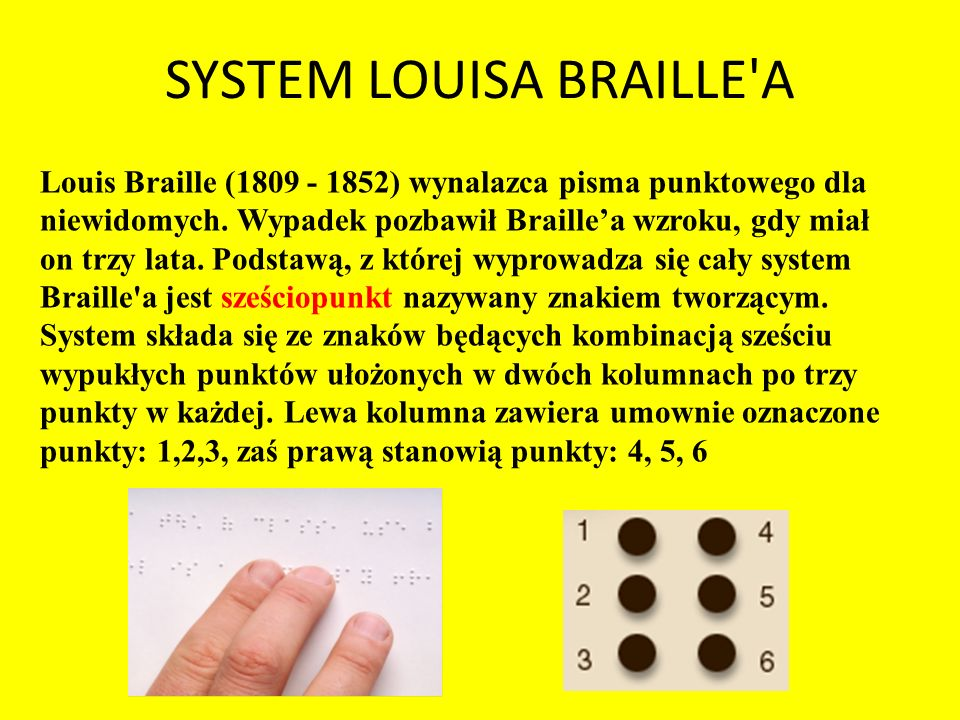 SYSTEM LOUISA BRAILLE A