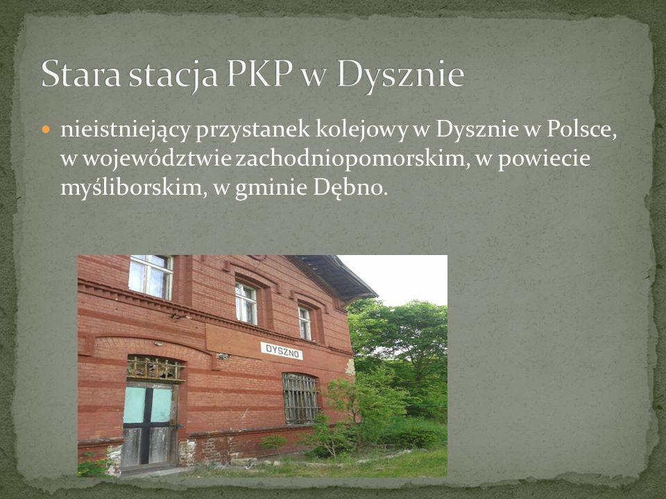 Stara stacja PKP w Dysznie