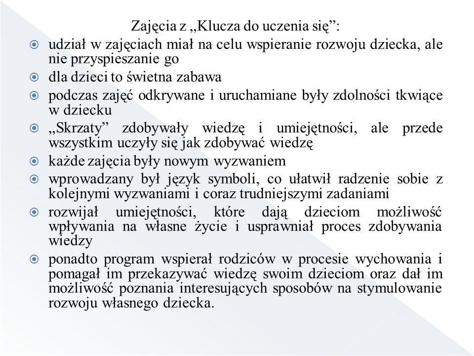 """Zajęcia z """"Klucza do uczenia się :"""