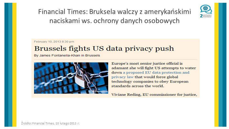 Financial Times: Bruksela walczy z amerykańskimi naciskami ws