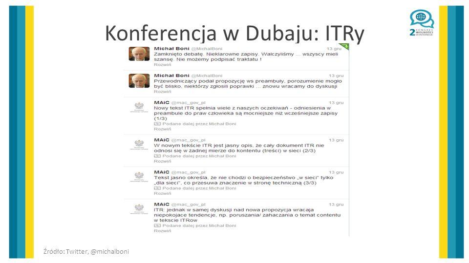 Konferencja w Dubaju: ITRy