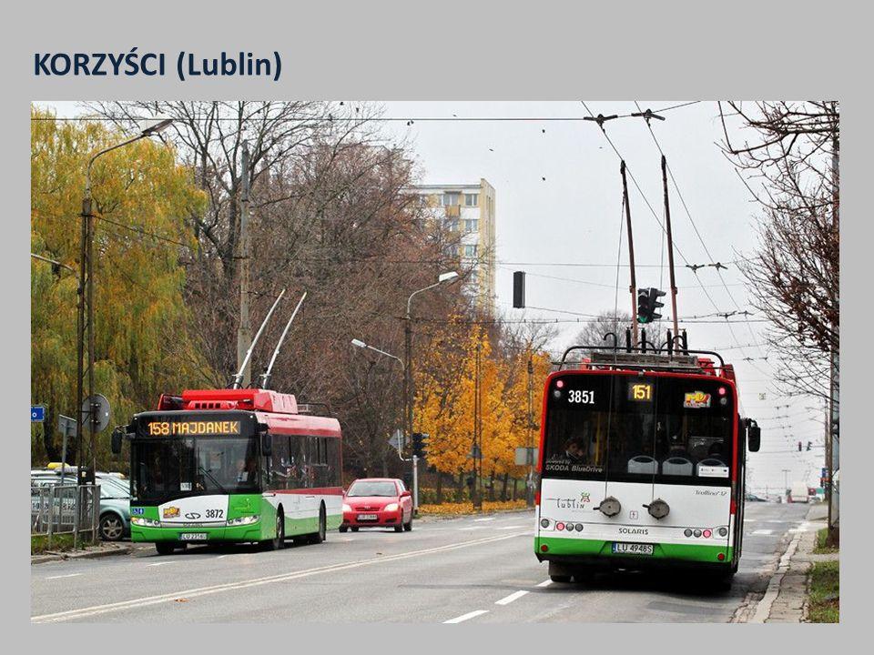 KORZYŚCI (Lublin) Wzrost wielkości pracy eksploatacyjnej komunikacji trolejbusowej z ponad 2,8 mln wzkm do prawie 5 mln wzkm w 2014 r.
