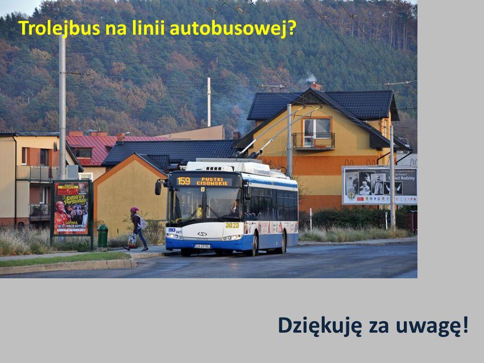Trolejbus na linii autobusowej