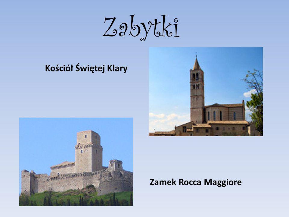 Zabytki Kościół Świętej Klary Zamek Rocca Maggiore