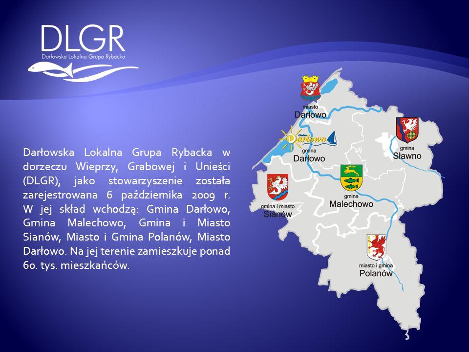Darłowska Lokalna Grupa Rybacka w dorzeczu Wieprzy, Grabowej i Unieści (DLGR), jako stowarzyszenie została zarejestrowana 6 października 2009 r.
