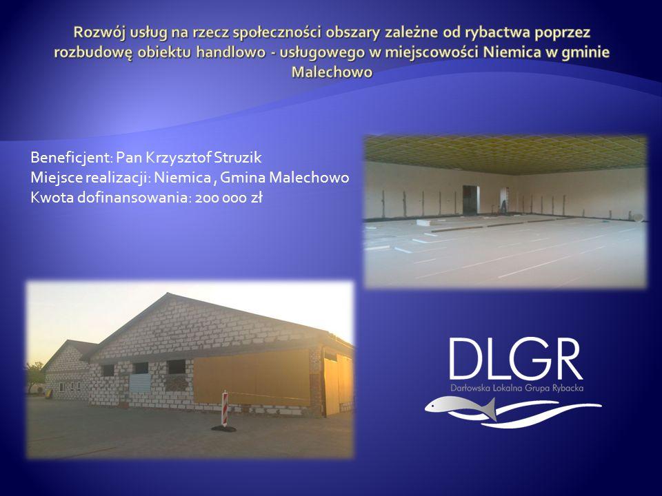 Rozwój usług na rzecz społeczności obszary zależne od rybactwa poprzez rozbudowę obiektu handlowo - usługowego w miejscowości Niemica w gminie Malechowo