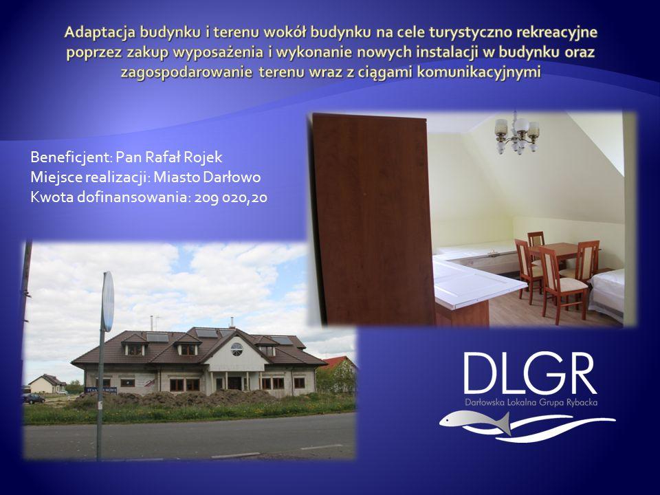 Adaptacja budynku i terenu wokół budynku na cele turystyczno rekreacyjne poprzez zakup wyposażenia i wykonanie nowych instalacji w budynku oraz zagospodarowanie terenu wraz z ciągami komunikacyjnymi