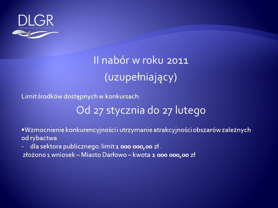 II nabór w roku 2011 (uzupełniający) Od 27 stycznia do 27 lutego