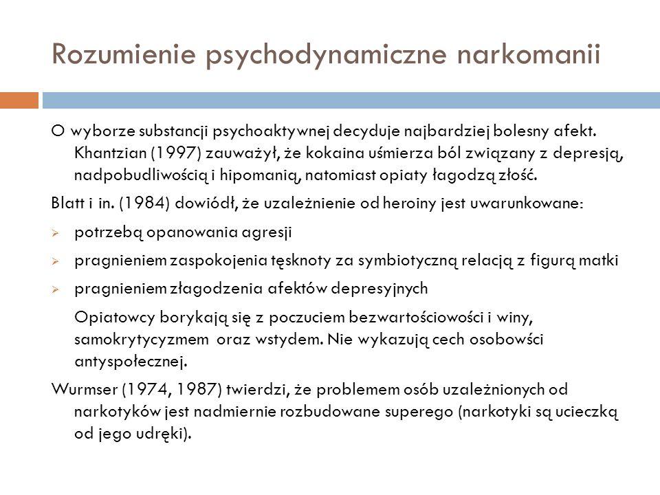 Rozumienie psychodynamiczne narkomanii