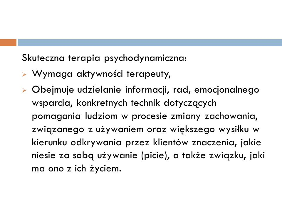 Skuteczna terapia psychodynamiczna: