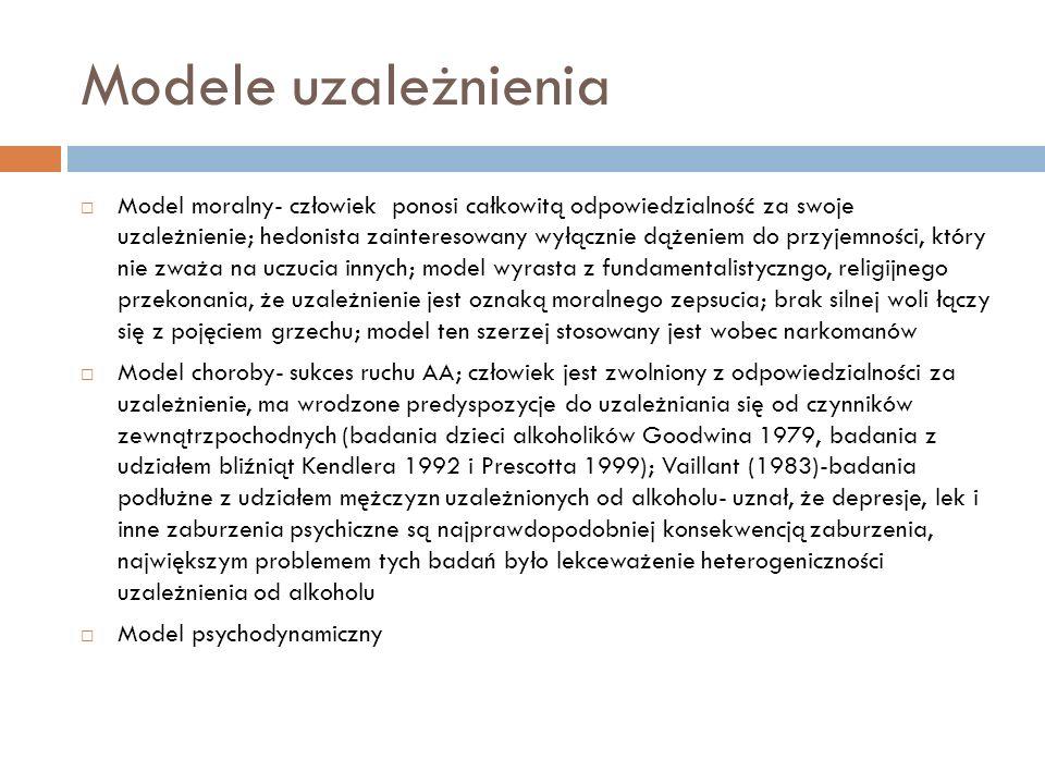 Modele uzależnienia