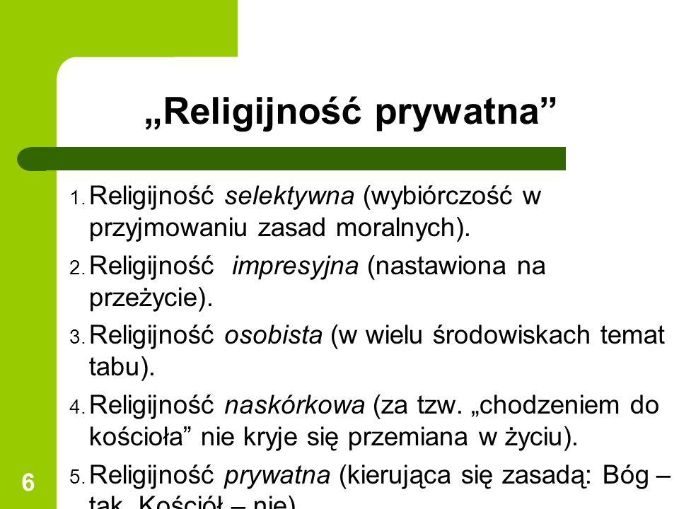 """""""Religijność prywatna"""