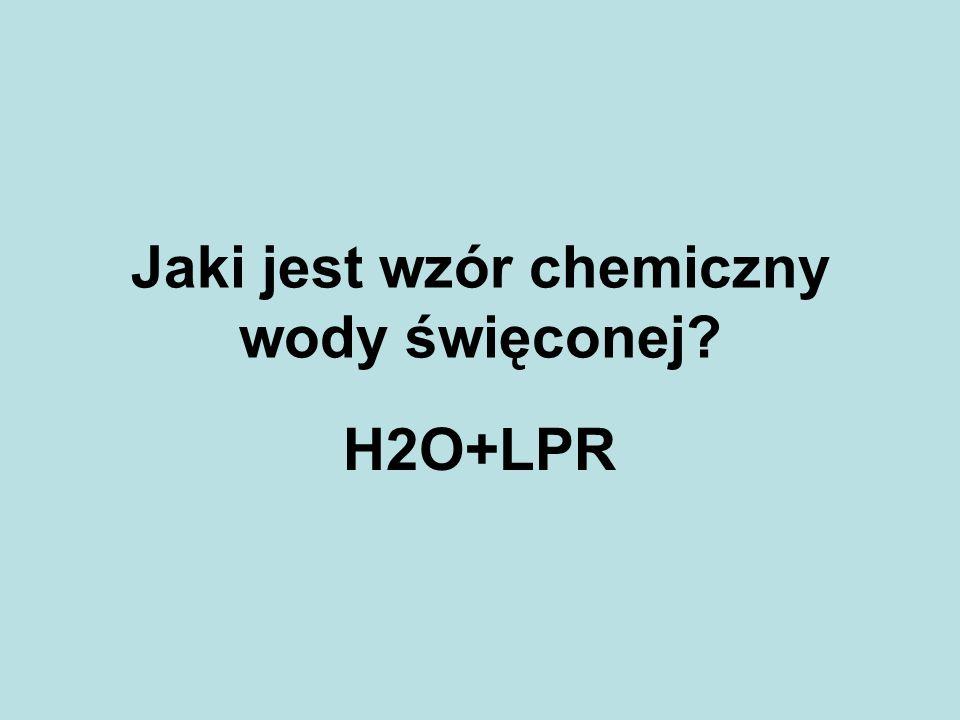 Jaki jest wzór chemiczny wody święconej