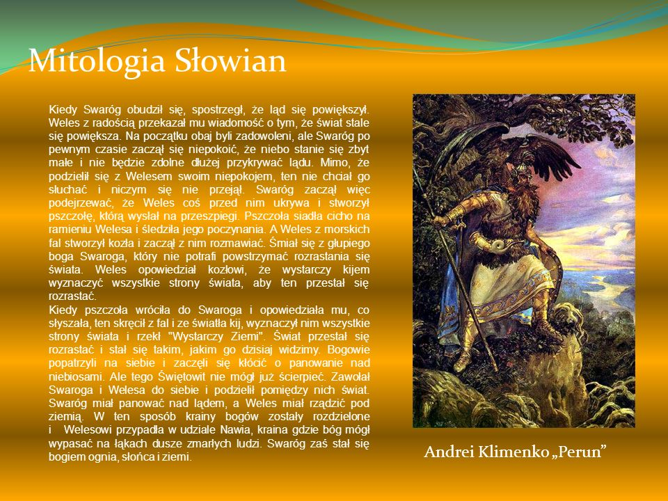 "Mitologia Słowian Andrei Klimenko ""Perun"