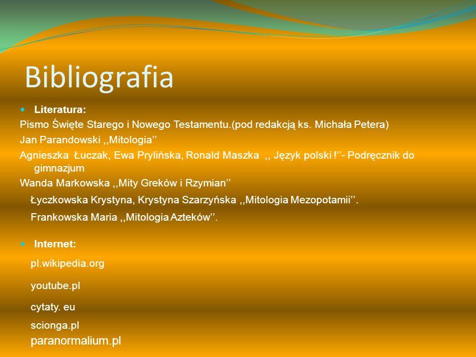Bibliografia paranormalium.pl Literatura: