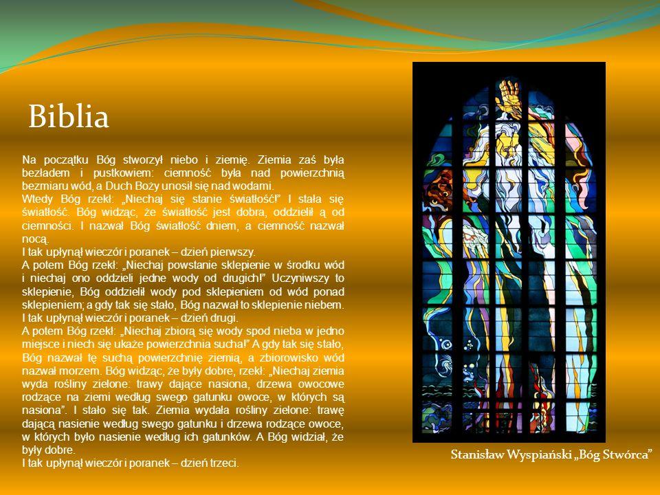 """Biblia Stanisław Wyspiański """"Bóg Stwórca"""
