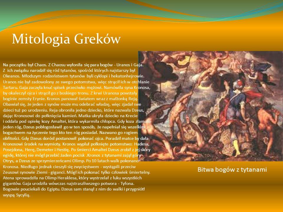 Mitologia Greków Bitwa bogów z tytanami