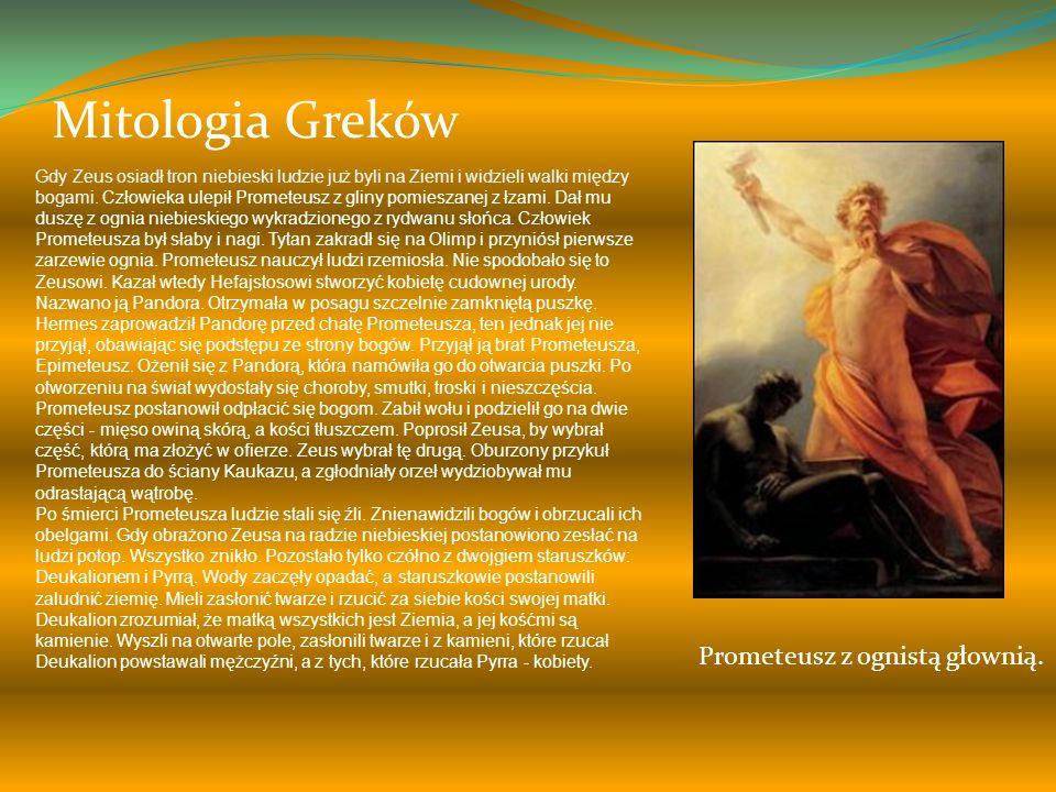 Mitologia Greków Prometeusz z ognistą głownią.