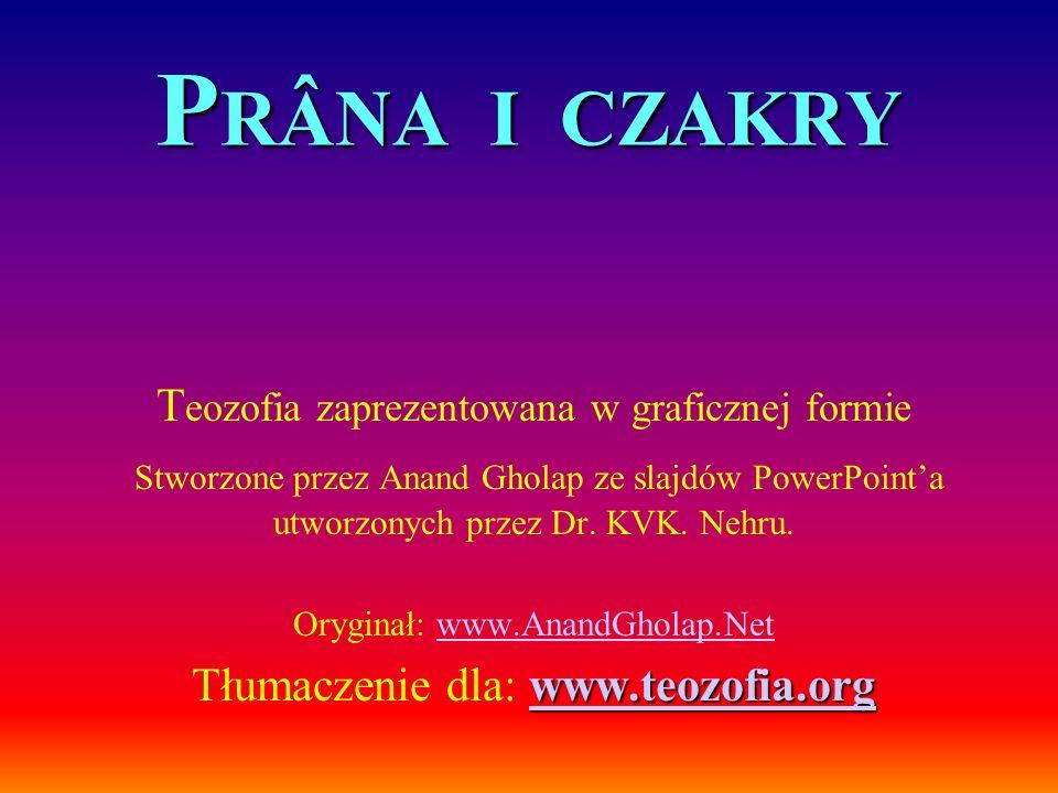 PRÂNA I CZAKRY Teozofia zaprezentowana w graficznej formie