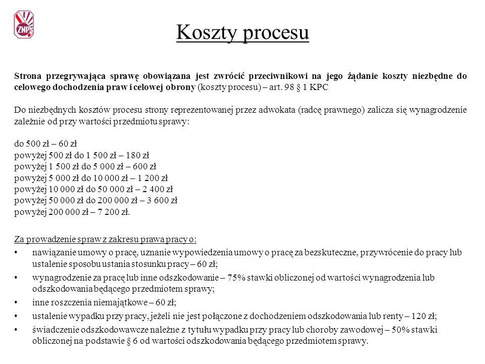 Koszty procesu