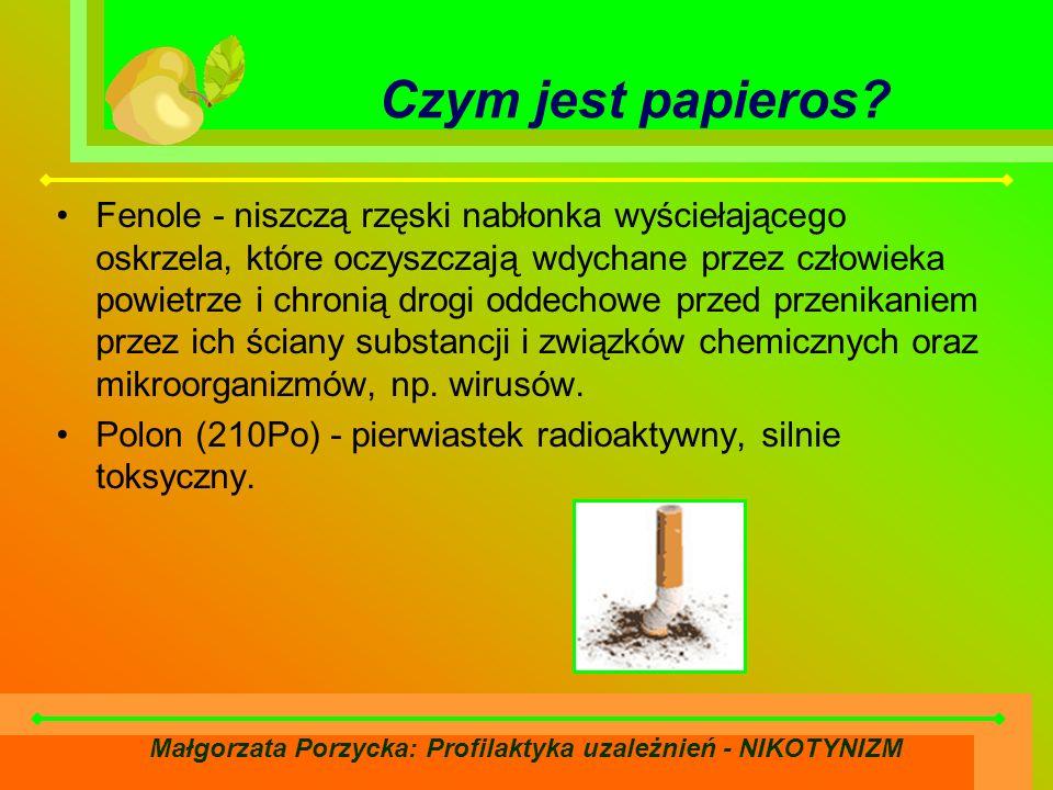 Małgorzata Porzycka: Profilaktyka uzależnień - NIKOTYNIZM