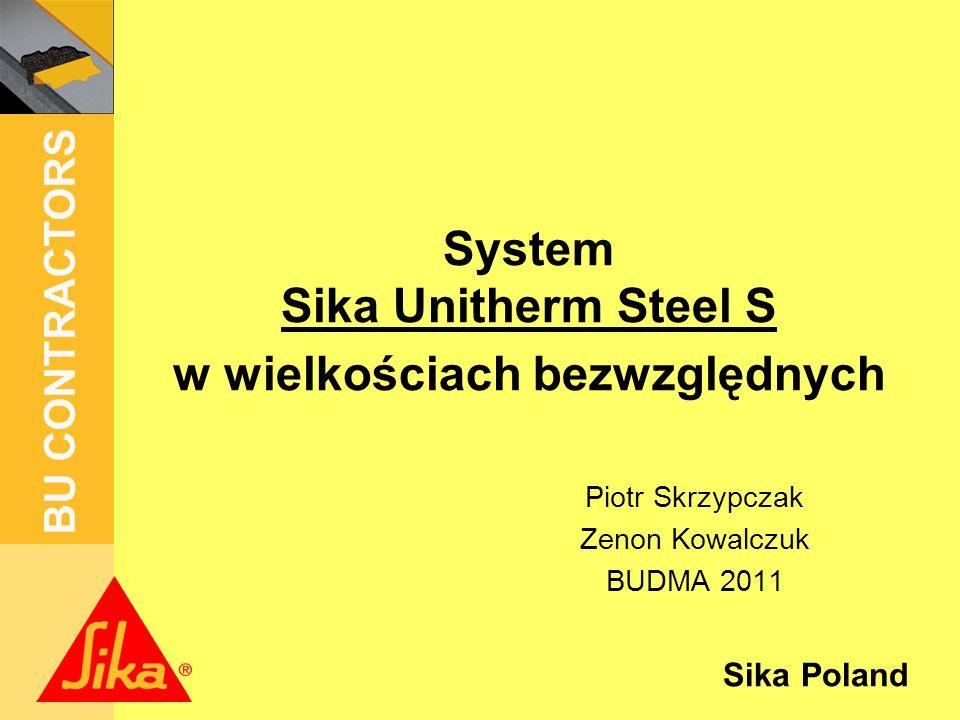 System Sika Unitherm Steel S w wielkościach bezwzględnych