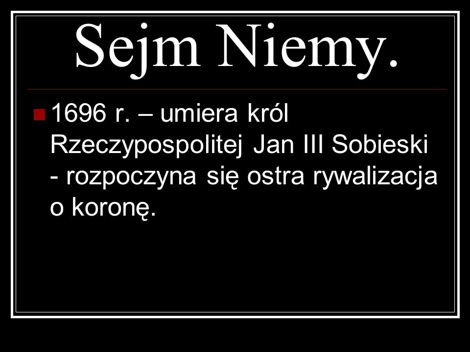 Sejm Niemy. 1696 r.