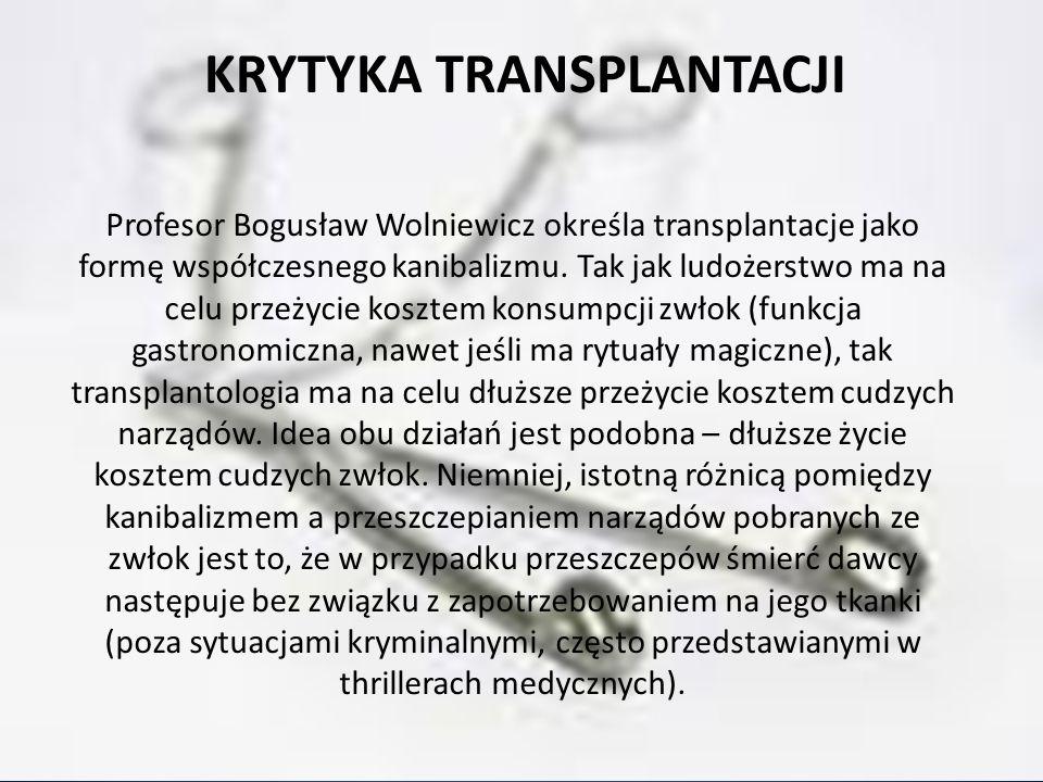 Krytyka transplantacji