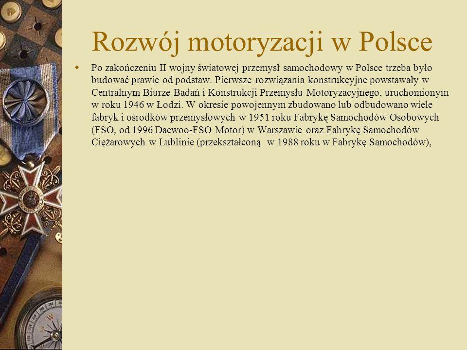 Rozwój motoryzacji w Polsce