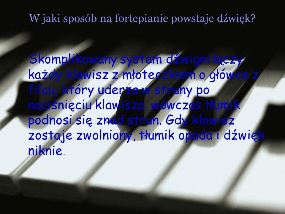 W jaki sposób na fortepianie powstaje dźwięk